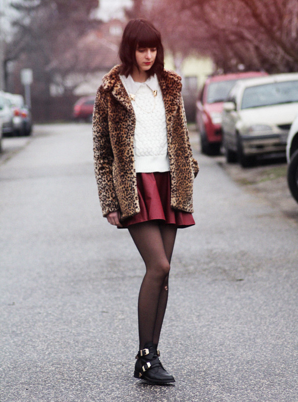 mes memos skirt shoes sweater