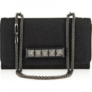 Valentino Black Va Va Voom Shoulder Bag - Denim - Sale