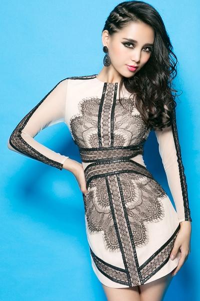 PU Strappy Lace Dress - OASAP.com