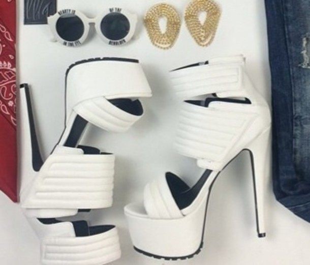 shoes sunglasses white pumps