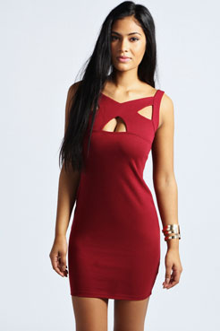 Carrie Cut Out Detail Bodycon Dress at boohoo.com