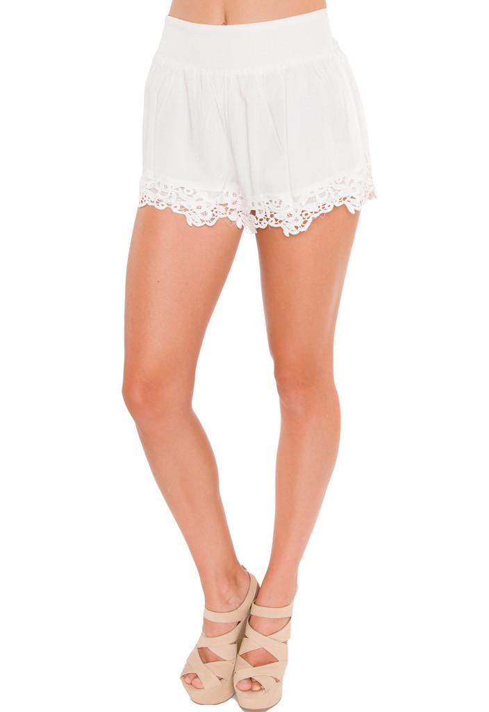 Swish Lace Shorts - White