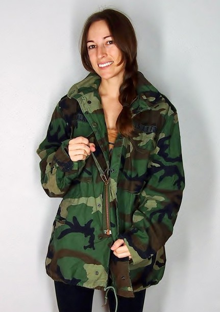 Very best coat, army green jacket, camo jacket, camouflage, winter coat  GB36
