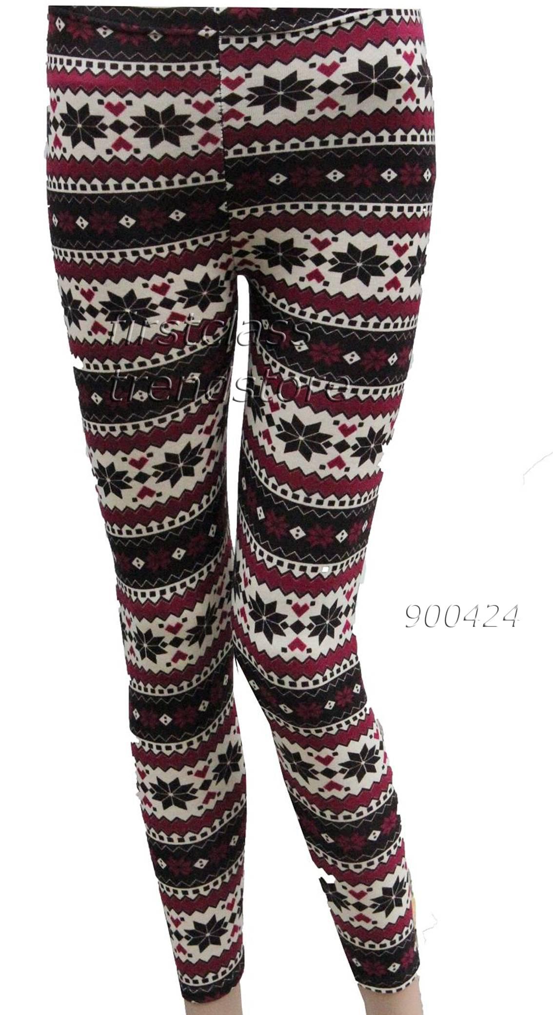Winterleggings * Norweger-Leggings Gr. S / M (34/36 - 38) Leggins Hose   eBay