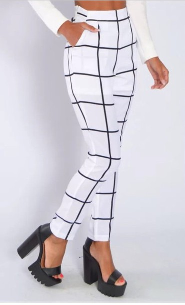 pants black and white