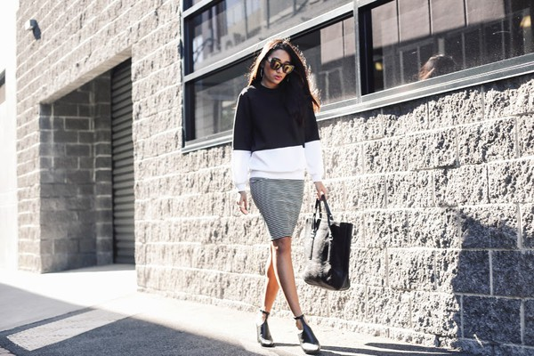 inside in inside out sweater skirt jewels shoes bag sunglasses tank top
