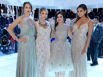 dress pretty little liars hanna marin spencer hastings aria montgomery emily fields christmas dresses prom dress homecoming dress
