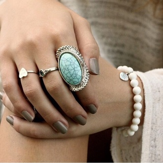 jewels silver boho boho chic hippie hippie jewelry hippie jewels turquoise turquoise jewelry heart ring bracelets white pearl white pearl