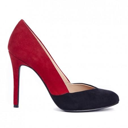 Sole Society - Colorblock pumps - Kelda - Black Berry Red