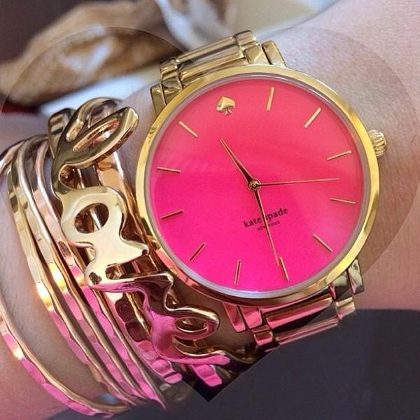 jewels watch pink gold bracelets
