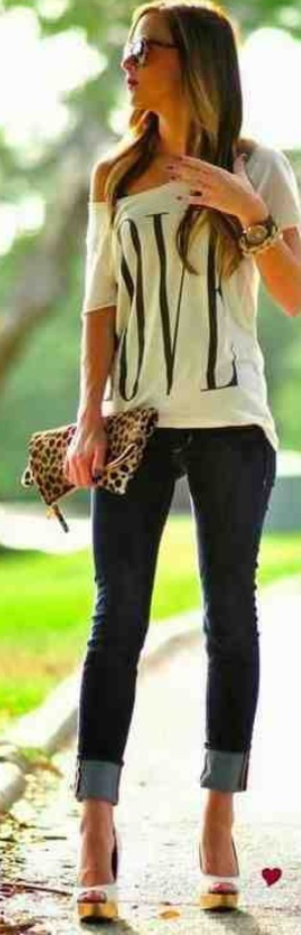 shirt off the shoulder shoes