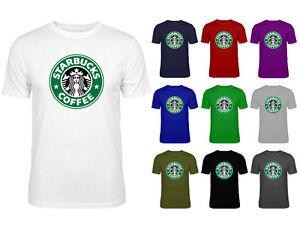 Mens Starbucks Coffee Green Logo Slogan Top T-shirt NEW S-XXL | eBay