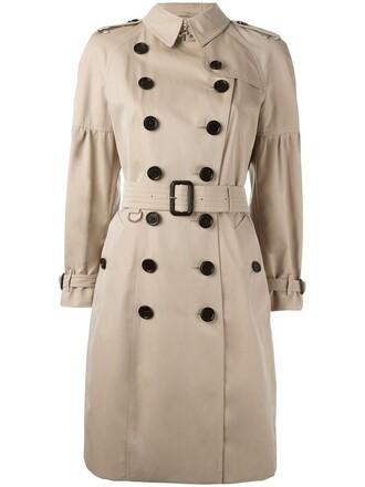coat trench coat women classic nude cotton