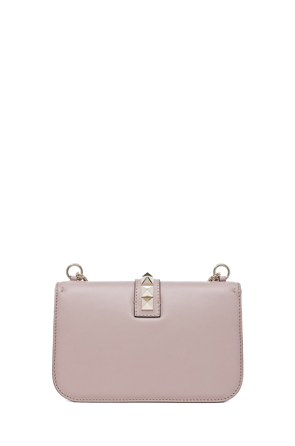 Valentino|Medium Lock Flap Bag in Poudre