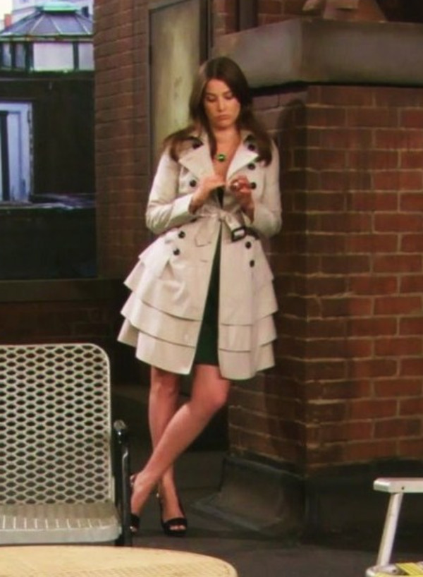 Jacket: trench coat, overcoat, coat, robin scherbatsky ...