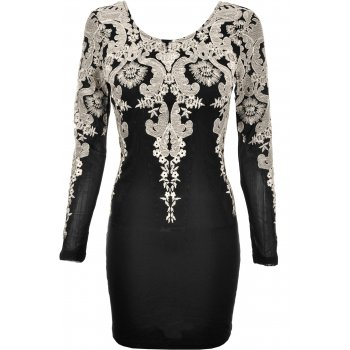 Ginger Fizz | Carmen Gold Lace Bodycon Dress | Spoiled Brat