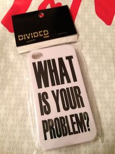 H M Conscious Trend Divided What Is Your Problem iPhone Case 4 4S Blk Wht | eBay