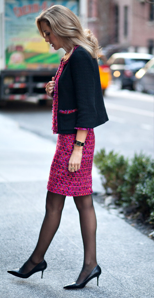 the classy cubicle skirt jacket coat shoes sweater jewels