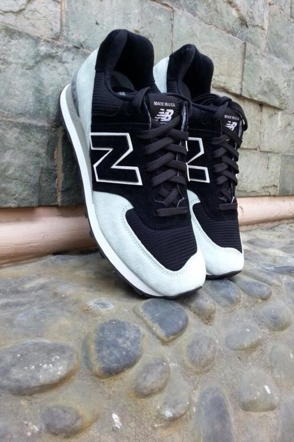 shoes new balance new balance trainers black white sneakers nb