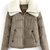 ROMWE | ROMWE Wollen Lapels White Khaki Coat, The Latest Street Fashion