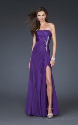 A-Line Tube Long Satin Prom Dress