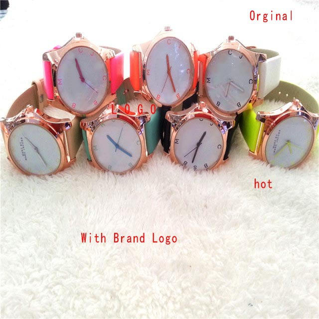 free shipping 2014 new hot sell brand watch fashion luxury women rhinestone Marc J watches military watches 7 color  Can retail-in Wristwatches from Watches on Aliexpress.com