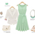 Womens Light Mint Green Sleeveless Pleated Chiffon Cocktail Party Dress Size: S M L XL XXL XXXL on Luulla