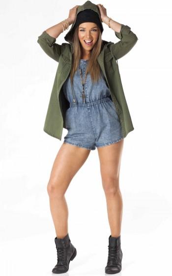 G.I. Jane parka in khaki    SHOWPO Fashion Online Shopping