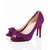Purple Christian Louboutin Madame Butterfly 100mm Suede Pumps Red Sole Shoes