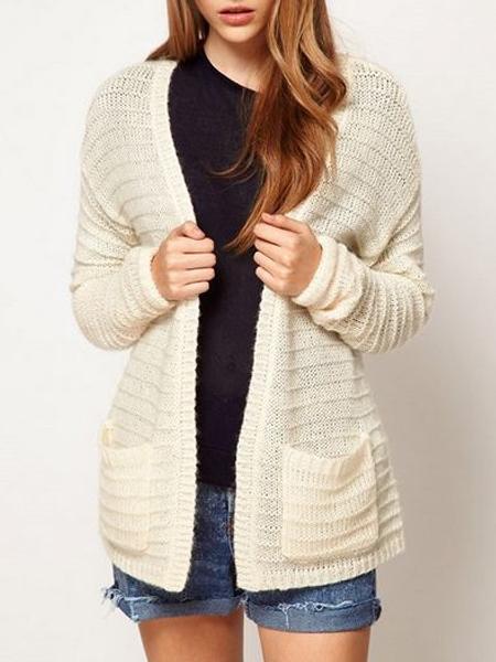 Textured Blanket Wrap In White | Choies