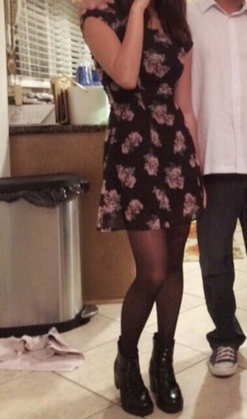 dress black dress chiffon floral dress chiffon dress