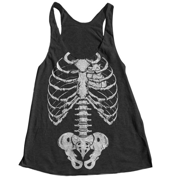 Halloween Skeleton Women Tank Top American by Couthclothing