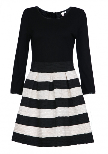 Elegance Striped Dress - Happiness Boutique