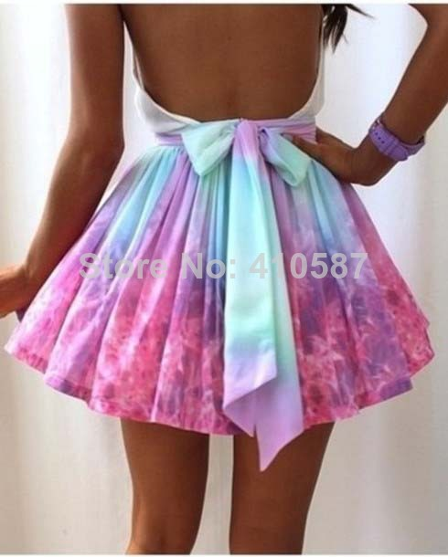 2014 free shipping new fashion pactch color women summer maxi skirt fashion tutu  skater skirt -in Skirts from Apparel & Accessories on Aliexpress.com