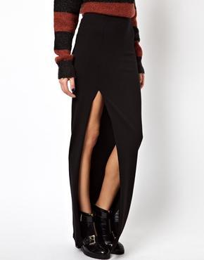 ASOS   ASOS Maxi Skirt with Thigh High Split at ASOS