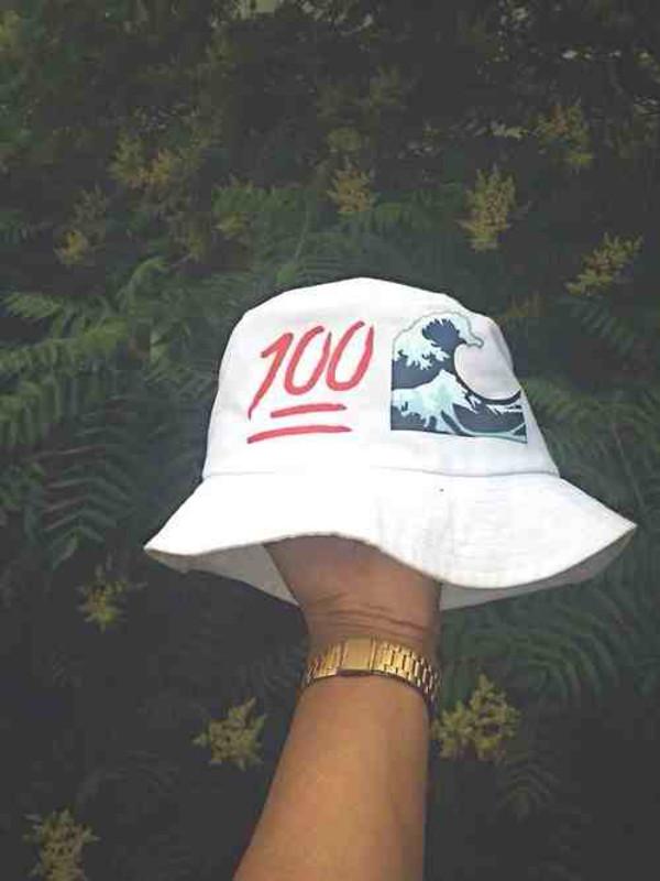 emoji print bucket hat white dress white white hat cool hat printed bucket hat bucket hat