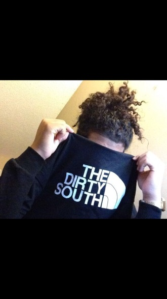 north face dirty dirty south south sweater black