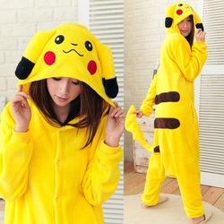 Dessins animés pokemon pikachu pyjama. oreilles hoodie zip sweat à capuche costume anime cosplay japen dans  de  sur Aliexpress.com