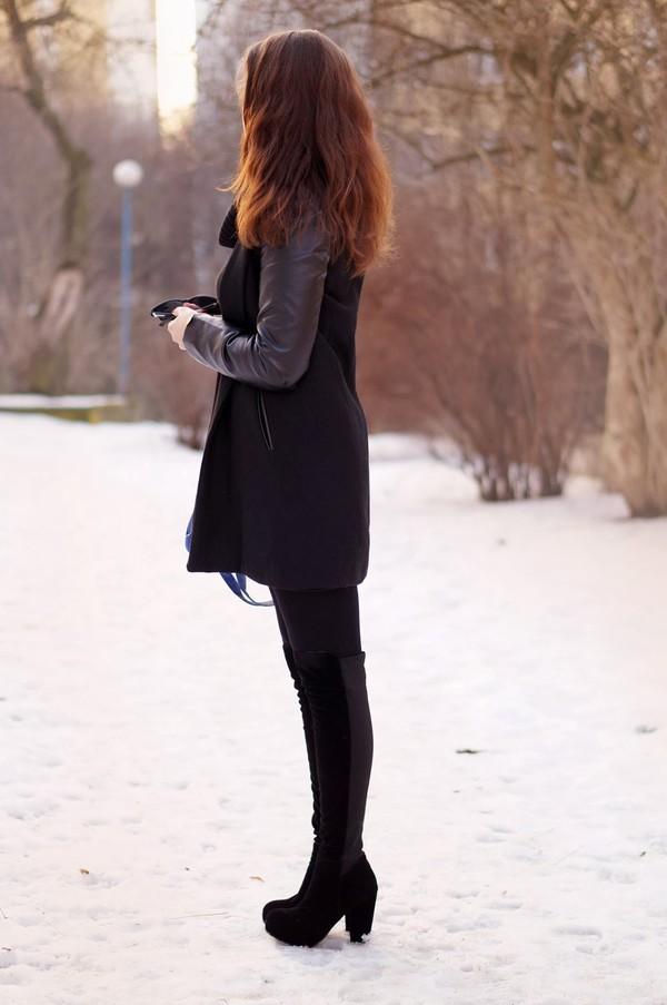 a piece of anna coat bag shoes