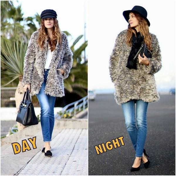 marilyn's closet blog blouse coat bag hat jeans shoes