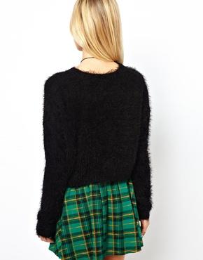 ASOS   ASOS Fluffy Crop Sweater at ASOS