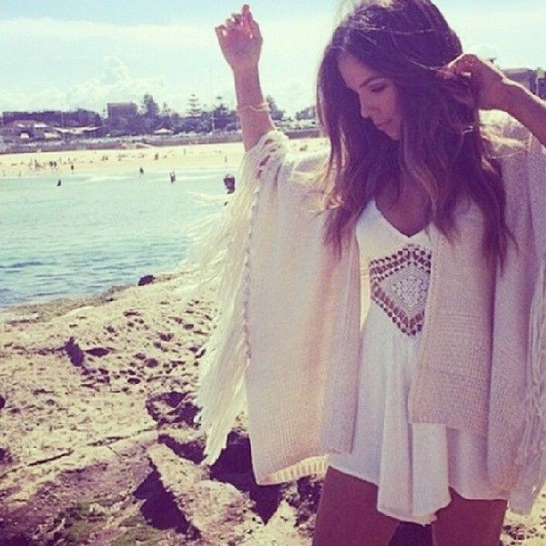 white dress white cardigan white cardigan knitwear boho dress boho dress boho boho chic dress