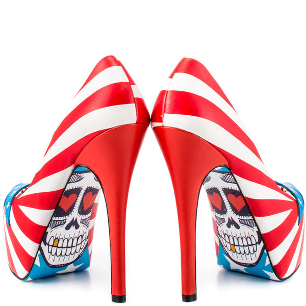 shoes high heels brossie red white taylor says