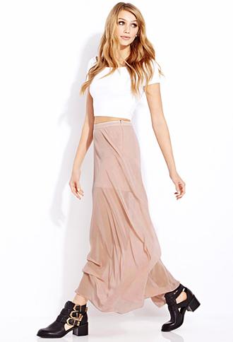 Must-Have M-Slit Maxi Skirt | FOREVER21 - 2000090824
