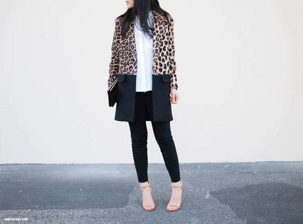andy heart coat blouse jeans bag shoes