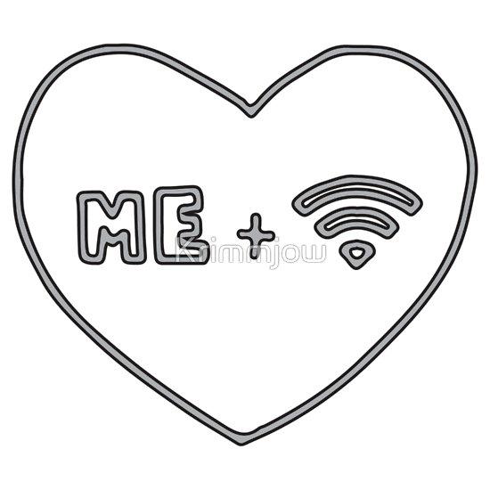 """Me   Wifi <3"" T-Shirts & Hoodies by Krimmjow | Redbubble"