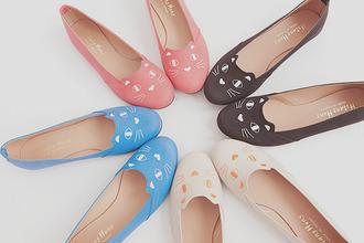 flats shoes cat shoes