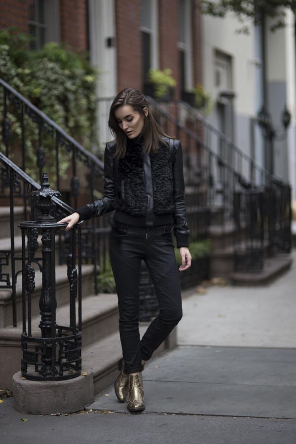 anouska proetta brandon jacket jeans shoes bag