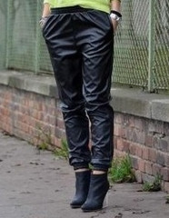 Leather Track Pants - Everything Lovely