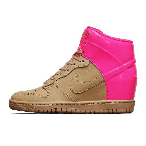 2013 Wmns Nike Dunk Sky Hi VT QS Sz 6 Vachetta Tan Pink Flash Wedge 611908 202 | eBay